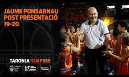Jaume Ponsarnau Post Partit de Presentació 19 20