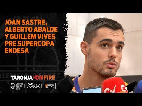 Joan Sastre, Alberto Abalde y Guillem Vives pre Supercopa Endesa