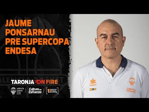 Jaume Ponsarnau pre Supercopa Endesa