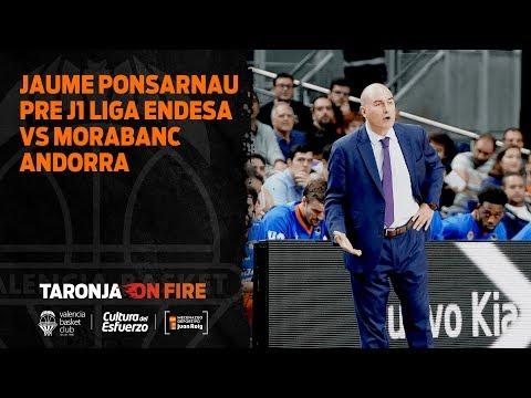 Jaume Ponsarnau Pre J1 Liga Endesa vs Morabanc Andorra