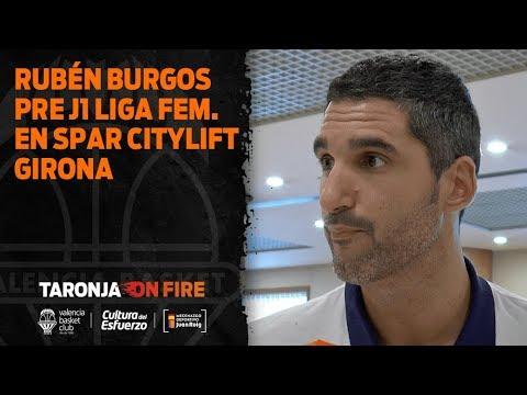 Rubén Burgos pre J1 Liga Dia en Spar Citylift Girona