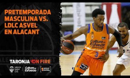 Pretemporada masculina en Alicante. LDLC Asvel 60 – Valencia Basket 88