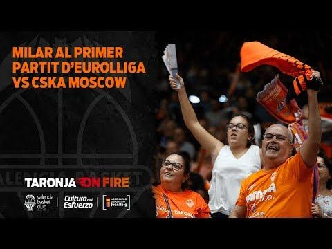 Milar en el primer partido de Euroliga vs CSKA Moscow