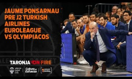 Jaume Ponsarnau Pre J2 Turkish Airlines Euroleague en Olympiacos
