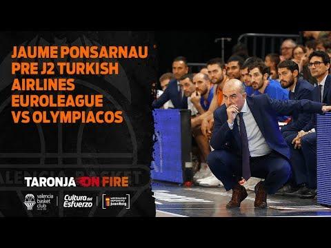 Jaume Ponsarnau Pre J2 Turkish Airlines Euroleague en Olympiacos