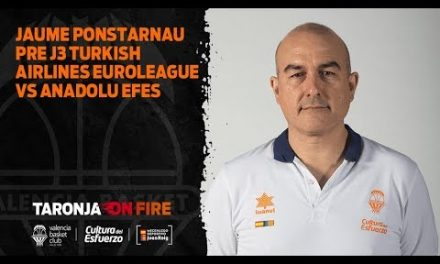 Jaume Ponsarnau Pre J3 Turkish Airlines Euroleague vs Anadolu Efes