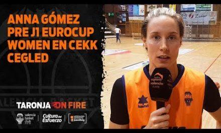 Anna Gómez pre J1 Eurocup Women en CEKK Cegled