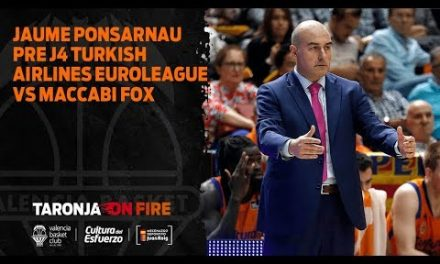 Jaume Ponsarnau Pre J4 Turkish Airlines Euroleague vs Maccabi Fox