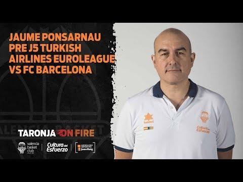 Jaume Ponsarnau Pre J5 Turkish Airlines Euroleague vs FC Barcelona