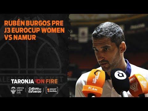 Rubén Burgos pre J3 Eurocup Women vs Namur