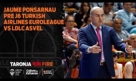 Jaume Ponsarnau Pre J6 Turkish Airlines Euroleague vs LDLC Asvel