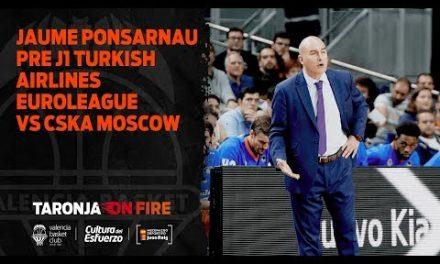 Jaume Ponsarnau Pre J1 Turkish Airlines Euroleague vs CSKA Moscow