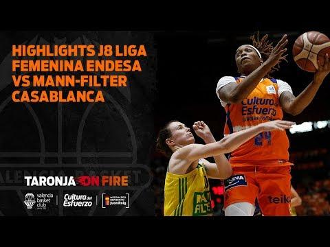 Highlights J8 Liga Femenina Endesa vs Mann-Filter Casablanca