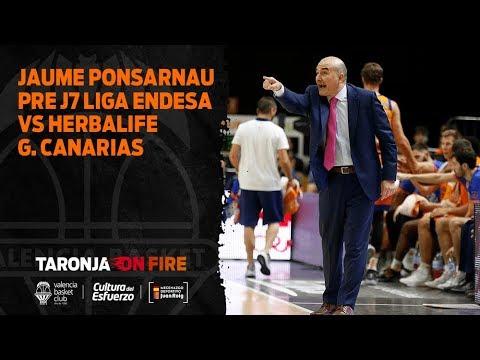 Jaume Ponsarnau Pre J7 Liga Endesa vs Herbalife G. Canarias