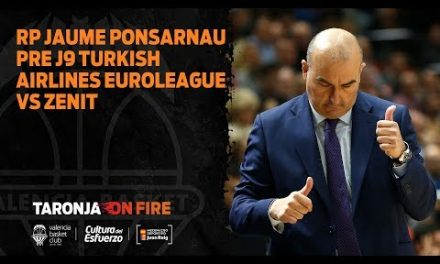 Jaume Ponsarnau pre J9 Turkish Airlines Euroleague vs Zenit San Petersburgo