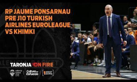 RP Jaume Ponsarnau pre J10 Turkish Airlines Euroleague vs Khimki