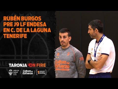 Rubén Burgos pre J9 Liga Femenina Endesa en Ciudad de la Laguna Tenerife