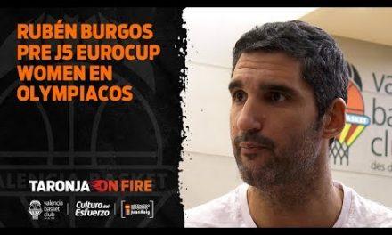 Rubén Burgos pre J5 Eurocup Women en Olympiacos