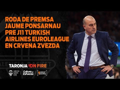 Rueda de prensa Jaume Ponsarnau pre J11 Turkish Airlines Euroleague en Estrella Roja