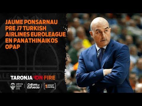 Jaume Ponsarnau Pre J7 Turkish Airlines Euroleague en Panathinaikos OPAP