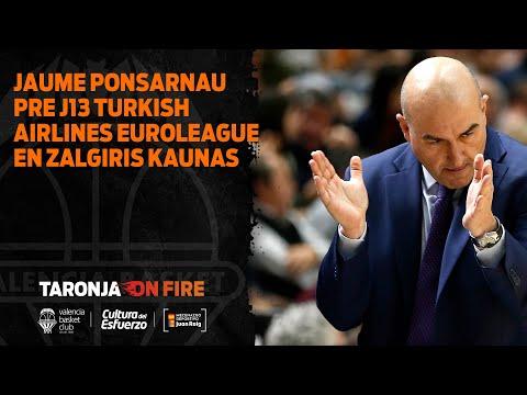 RP Jaume Ponsarnau pre J13 Turkish Airlines Euroleague en Zalgiris