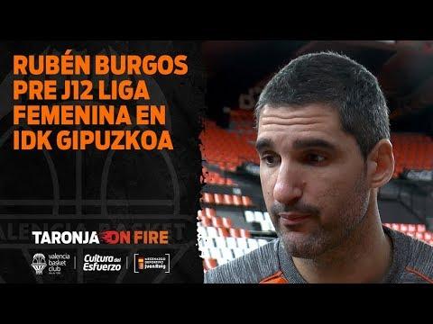 Rubén Burgos pre J12 Liga Femenina Endesa en IDK Gipuzkoa