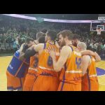 Celebración en Zalgiris J13 Turkish Airlines Euroleague