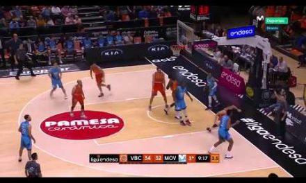 Tapón Maurice Ndour vs Movistar Estudiantes J13 Liga Endesa