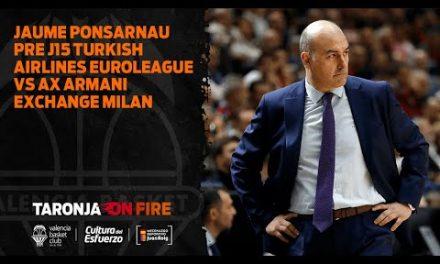 Jaume Ponsarnau Pre J15 Turkish Airlines Euroleague vs AX Armani Exchange Milan
