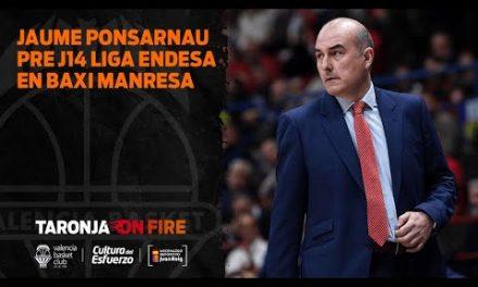 Jaume Ponsarnau Pre J14 Liga Endesa vs Baxi Manresa