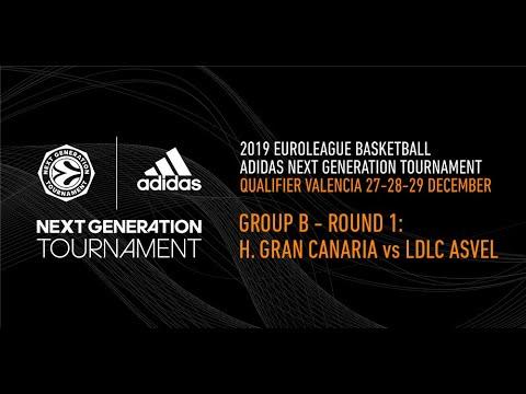 Adidas Next Generation Tournament Valencia 2019: Round 1 Group B – H. Gran Canaria vs LDLC Asvel