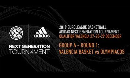 Adidas Next Generation Tournament Valencia 2019: Round 1 Group A – Valencia Basket vs Olympiacos