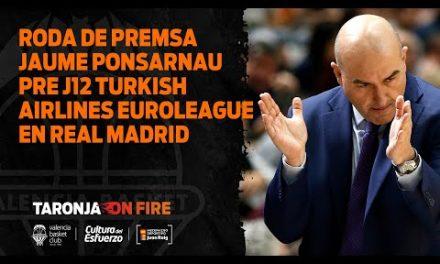 RP Jaume Ponsarnau pre J12 Turkish Airlines Euroleague en Real Madrid