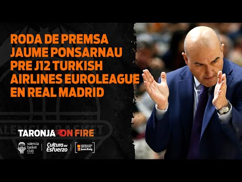 RP Jaume Ponsarnau pre J12 Turkish Airlines Euroleague en Real Madrid