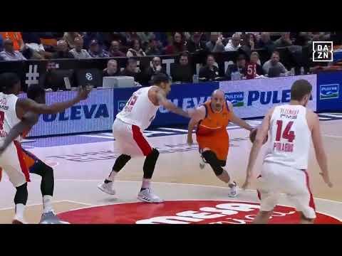 Quino Colom tiro corto en Olympiacos J18 Turkish Airlines Euroleague