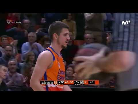 Vanja Marinkovic triple buzzer beater 2Q J17 Liga Endesa vs Joventut de Badalona