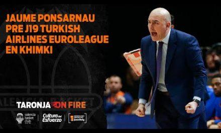 Jaume Ponsarnau pre J19 Turkish Airlines Euroleague en Khimki