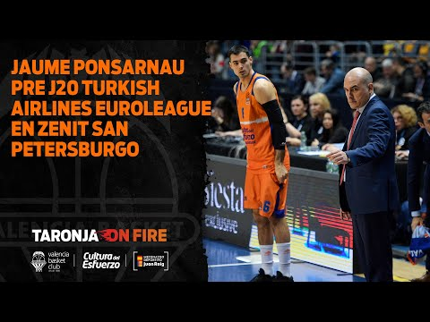 Jaume Ponsarnau pre J20 Turkish Airlines Euroleague en Zenit San Petersburgo