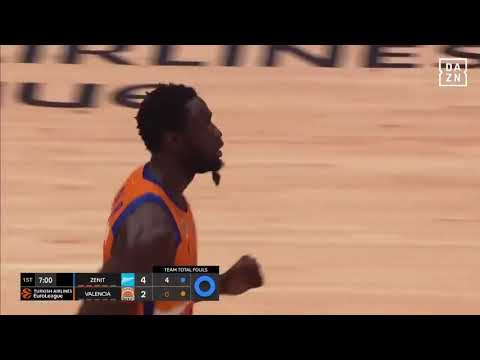 Triple Maurice Ndour en Zenit SPB J20 Turkish Airlines Euroleague