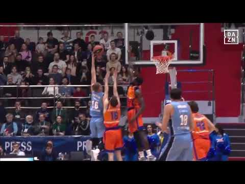 Tapón Maurice Ndour en Zenit SPB J20 Turkish Airlines Euroleague