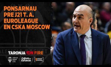 Jaume Ponsarnau pre J21 Euroliga en CSKA Moscú