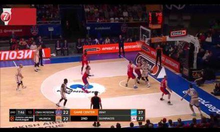 Vanja Marinkovic circus shot en J21 Turkish Airlines Euroleague en CSKA