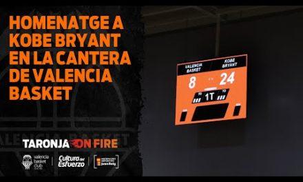 Homenaje a Kobe Bryant en la cantera del Valencia Basket