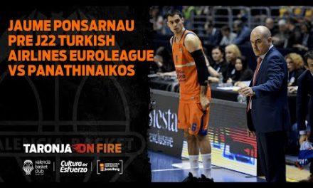 Jaume Ponsarnau Pre J22 Turkish Airlines Euroleague vs Panathinaikos