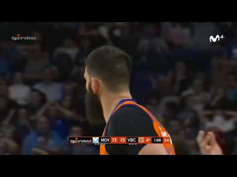 Triple de 9 metros de Bojan Dubljevic J21 Liga Endesa en Movistar Estudiantes
