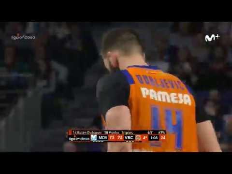 Triple Bojan Dubljevic y 2+1 Fernando San Emeterio J21 Liga Endesa en Movistar Estudiantes