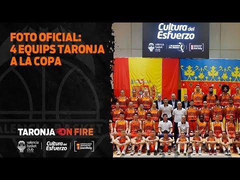 Foto oficial: 4 equipos taronja en la Copa