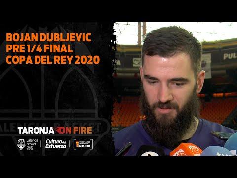 Declas Bojan Dubljevic pre 1/4 Copa del Rey vs FC Barcelona