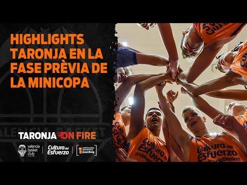 Highlights taronja en la fase previa de la Minicopa Endesa
