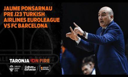 Jaume Ponsarnau Pre J23 Turkish Airlines Euroleague vs FC Barcelona